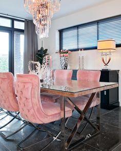 Richmond Interiors - Escape the ordinary Elegant Dining Room, Luxury Dining Room, Living Room Decor Cozy, Home Living Room, Richmond Interiors, First Apartment Decorating, Girl Apartment Decor, Dining Room Inspiration, Home Room Design