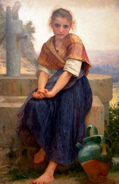 William Adolphe Bouguereau - The Broken Pitcher, 1891 at the Legion of Honor (Fine Arts Museums of San Francisco CA)