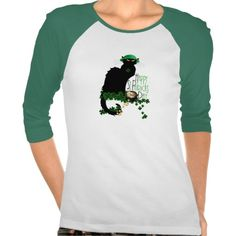 Happy #St PatricksDay Chat Noir Shirts by #SpoofingTheArts