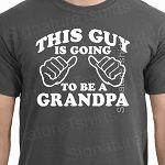 This Guy is Going To Be a GRANDPA Mens T-shirt Pregnancy Announcement