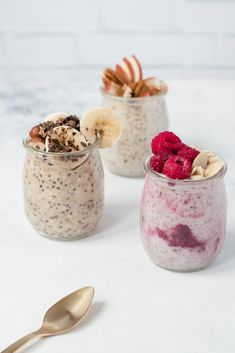 Recipes - Gruau préparé la veille 3 façons - My Popular Photo Fruit Smoothies, Healthy Smoothies, Brunch Recipes, Breakfast Recipes, Breakfast Healthy, Morning Breakfast, Healthy Breakfasts, Peanut Butter Toast, Cookies For Kids