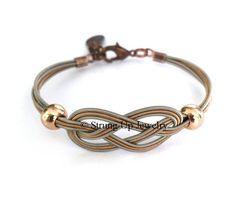 Recycled Guitar String Sailor Knot Bracelet - Original Exclusive Design   ReThrive Designs