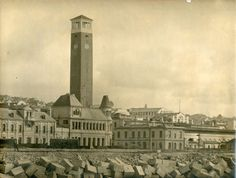 View of the Campanile from the seafront, towering over the Customs House Customs House, The Settlers, Old Port, Port Elizabeth, Big Ben, South Africa, Cape, Tower, Europe