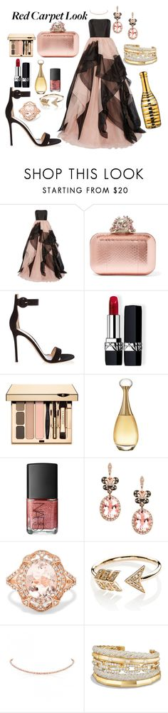 """Red Carpet at Oscars"" by kariver ❤ liked on Polyvore featuring Reem Acra, Jimmy Choo, Gianvito Rossi, Christian Dior, NARS Cosmetics, Effy Jewelry, EF Collection, David Yurman, Kosta Boda and RedCarpet"