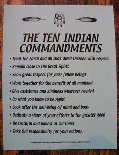 The little Indian in me....The Ten Indian Commandments