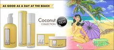 New Coconut Range from Whish! Smells like you are on a tropical beach! We love it!