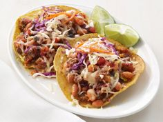Chipotle Beef Tostadas from FoodNetwork.com. Made this for dinner - oh my goodness!! So good!!!