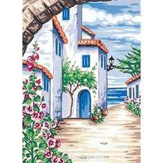 Watercolor Architecture, Art And Architecture, Scenery Paintings, Landscape Paintings, Guache, Art Drawings Sketches Simple, Art Impressions, Art Sketchbook, Art Tutorials