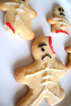"Halloween Baking - Ginger-Dead Men.  As my mother would say in her appalled-sounding-so-as-to-set-a-good-example-for-The-Children-voice, ""This is SICK."""