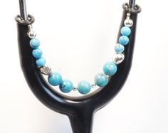Women's Beaded Stethoscope ID Tag Pendant Charm Jewelry Accessories Turquoise by dunglebees. Explore more products on http://dunglebees.etsy.com