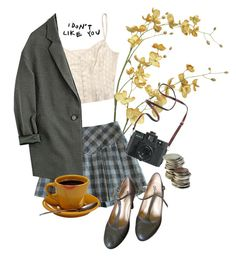 """""""frowny face"""" by crying-saucers ❤ liked on Polyvore featuring Pier 1 Imports, Repetto and Madewell"""