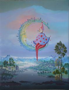 L'Amoureux de la Lune  By Isabelle Plante, French artist