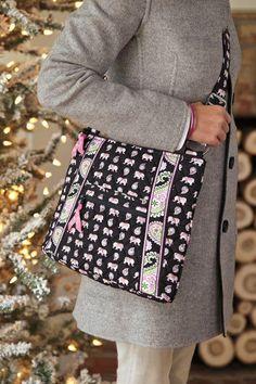 Vera Bradley - Pink Elephant - Available at Everything Darlin', Valley Mall, Harrisonburg, Va