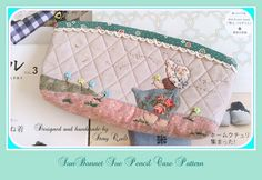 Hello, everyone.  Story Quilt's SunBonnet Sue & Dandelions pencil case pattern is available for  sell in my Etsy now.   Enjoy sewing !  ^v^   https://www.etsy.com/listing/162123330/sunbonnet-sue-pencil-case-make-up-pouch?ref=shop_home_active
