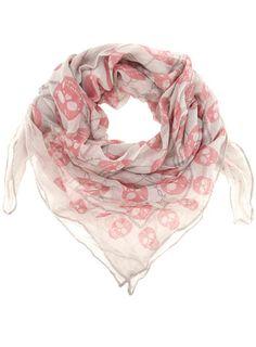 Cream skull scarf