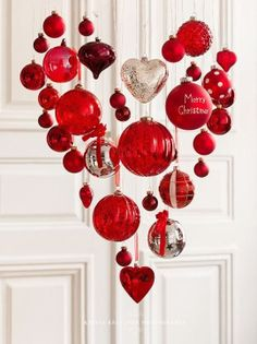 Red Christmas heart by Krista Keltanen Photography Scandinavian Christmas Style Noel Christmas, Christmas Fashion, All Things Christmas, Christmas Crafts, Christmas Ornaments, Hanging Ornaments, Red Ornaments, Ornaments Ideas, Christmas Chandelier