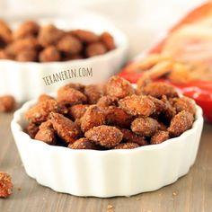 Healthier Maple Cinnamon Candied Almonds - Texanerin Baking