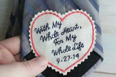 22 Ideas embroidery wedding gifts grooms for 2019 Hand Embroidery Stitches, Hand Stitching, Embroidery Patterns, Machine Embroidery, Wedding Gifts For Groom, Bride And Groom Gifts, Wedding Stuff, Heart Outline, Thing 1