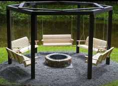 Awesome idea! Fire pit seating