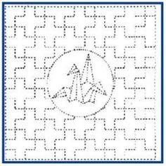 Traditional Sashiko Pattern designs  Matilda's Own Sashiko Pattern #831cm x 31cm