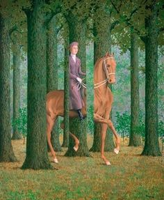 art painting landscape green portrait artist artwork forest surrealism horse Woods century belgium ae magritte painter Rene Magritte oil on canvas surrealist Belgian artexpert Rene Magritte, Surreal Photos, Surreal Art, Van Gogh, Optical Illusion Paintings, Magritte Paintings, Giant Animals, National Gallery Of Art, Needlepoint Canvases