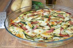 Teglia di zucchine patate e scamorza - ecco un piatto molto semplice e gustoso, che si può servire come secondo piatto (magari...