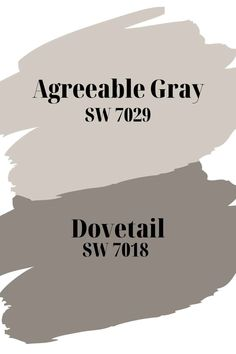 Agreeable Gray SW 7029 and Dovetail SW 7018 are 2 Sherwin Williams gray paint colors that work well together. Sherwin Williams Agreeable Gray SW 7029 is an extremely popular neutral gray/ greige paint color that can be used all throughout your home.