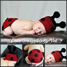 LSBV Newborn Ladybug Photo Prop Set   This is sooo cute!