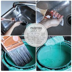 Before dipping your brush in paint, first wet the bristles. This will keep the paint from seeping up into the ferrule #paint #tip