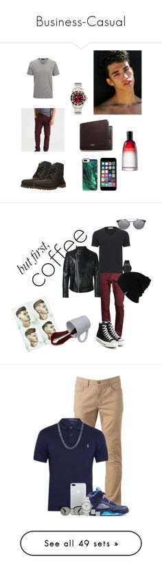 """""""Business-Casual"""" by leesarduy ❤ liked on Polyvore featuring men's fashion, men's clothing, men's shirts, men's polos, green, mens polo button down shirts, mens short sleeve polo shirts, mens long sleeve button shirts, mens green shirt and chaps mens shirts"""