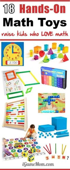 How to raise kids who love math? These Hands-on math toys are good starts for kids of young age. STEM Gift ideas for preschool, kindergarten, and school age. #MathActivities #iGameMomSTEM #STEMforKids