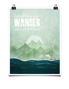 Typography Poster Home Decor Travel Print by printdesignstudio