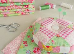 A pincushion from a mistake quilt block - Pretty By Hand