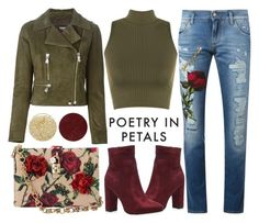 """Poetry In Petals"" by latoyacl ❤ liked on Polyvore featuring Dolce&Gabbana, Versus, WearAll, Lancôme and Burberry"