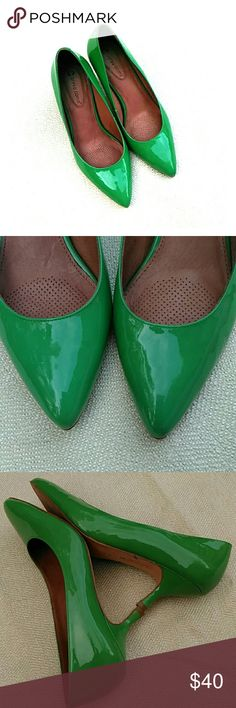 "Corso como green shoes Patent leather shoes in good condition, 2'5"" heels Corso Como Shoes Heels"