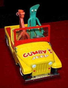 Gumby and Pokey - I didn't have the Jeep, but I still have Gumby!!