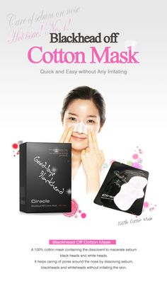 [Ciracle] Blackhead Off Cotton Mask Remove sebum, blackheads and whiteheads without skin irritation! Great effect! Quick result! Easy to use! Brand : Ciracle Pore & Blackhead Care Volume: 20sheets/20pcs cotton swabs Made in Korea $25.99
