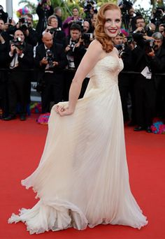 Jessica Chastain in Armani Privé at Cannes ~ Ladylike Chic