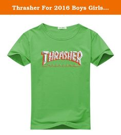 Thrasher For 2016 Boys Girls Printed Short Sleeve tops t shirts. We offer a mix of 100% Preshrunk Cotton and Poly/Cotton Blends based on availability,designed and printed in the China. We use the highest grade plasticol ink and state of the art equipment to ensure vibrant colors and lasting durability. Professionally printed super soft funny and awesome tees. Our lightweight fitted tees are made from ultra soft ringspun cotton to get that comfortable fit and feel. Once you put this…