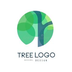 Illustration about Green tree logo original design, green eco circle badge, abstract organic element vector illustration isolated on a white background. Illustration of identity, label, ecology - 109319595 2 Logo, Typography Logo, Logo Branding, Branding Design, Circle Logo Design, Circle Logos, Green Circle Logo, Vector Logo Design, Logo Inspiration