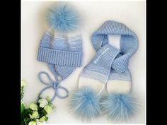 Scarf Scarf Set # 1 Part - Stricken Baby Hats Knitting, Knitting Socks, Knitted Hats, Crochet Baby Hat Patterns, Crochet Baby Boots, Baby Scarf, Crochet Hand Purse, Crochet Cap, Long Scarf