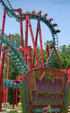 Mind Eraser roller coaster at Six Flags America