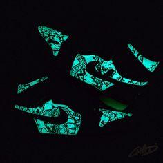 c84b7531c2b Glow Worms custom Glow in the Dark Jordan retro 1 by ArtOfTheSole