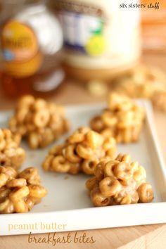 Peanut Butter Breakfast Bites by Six Sisters' Stuff