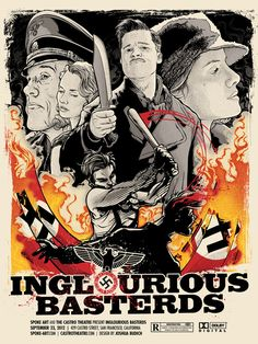 Inglourious Basterds - Joshua Budich ---- http://spoke-art.myshopify.com/collections/the-castro-theatre-series