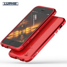 For iPhone 5S Case For iPhone Se Case Original Luphie 5 S Luxury Metal Aluminum Bumper + PU Leather Back Cover Phone Cases
