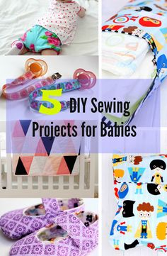 Do you enjoy sewing for babies?  Whether you are a pro seamstress or not, here are some fun and easy sewing projects you can make for your babies! See tutorials ---> http://www.discountqueens.com/5-diy-sewing-projects-for-babies/