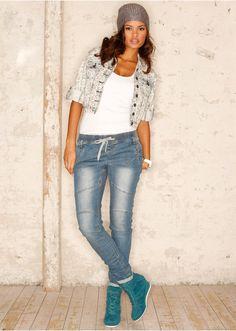 #Jogg-Jeans #demin #bonprix loving the wedge sneakers