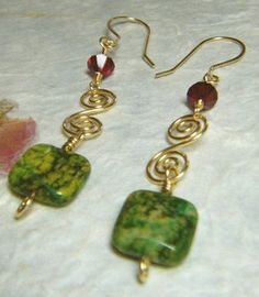 wire wrapped earrings project tutorial gold swirls