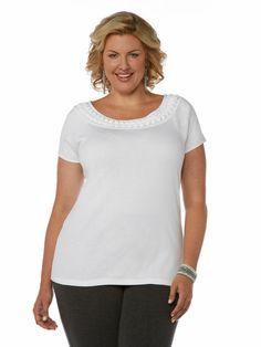 1 x 1 Basic Boat Neck Top - Woman Plus #holidaycontest rafaellasportswear.com